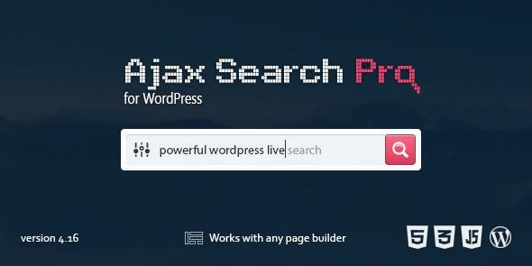 Ajax Search Pro - Live WordPress Search & Filter Plugin - GPL Downloads -  Premium WordPress Themes & Plugins