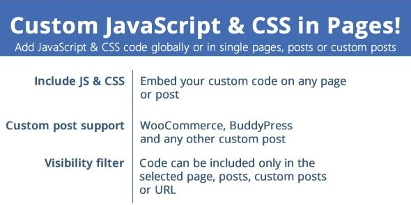 Custom JavaScript & CSS in Pages - GPL Downloads - Premium WordPress Themes  & Plugins